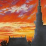 Ciel en feu - Pastel Patricia SANNIER