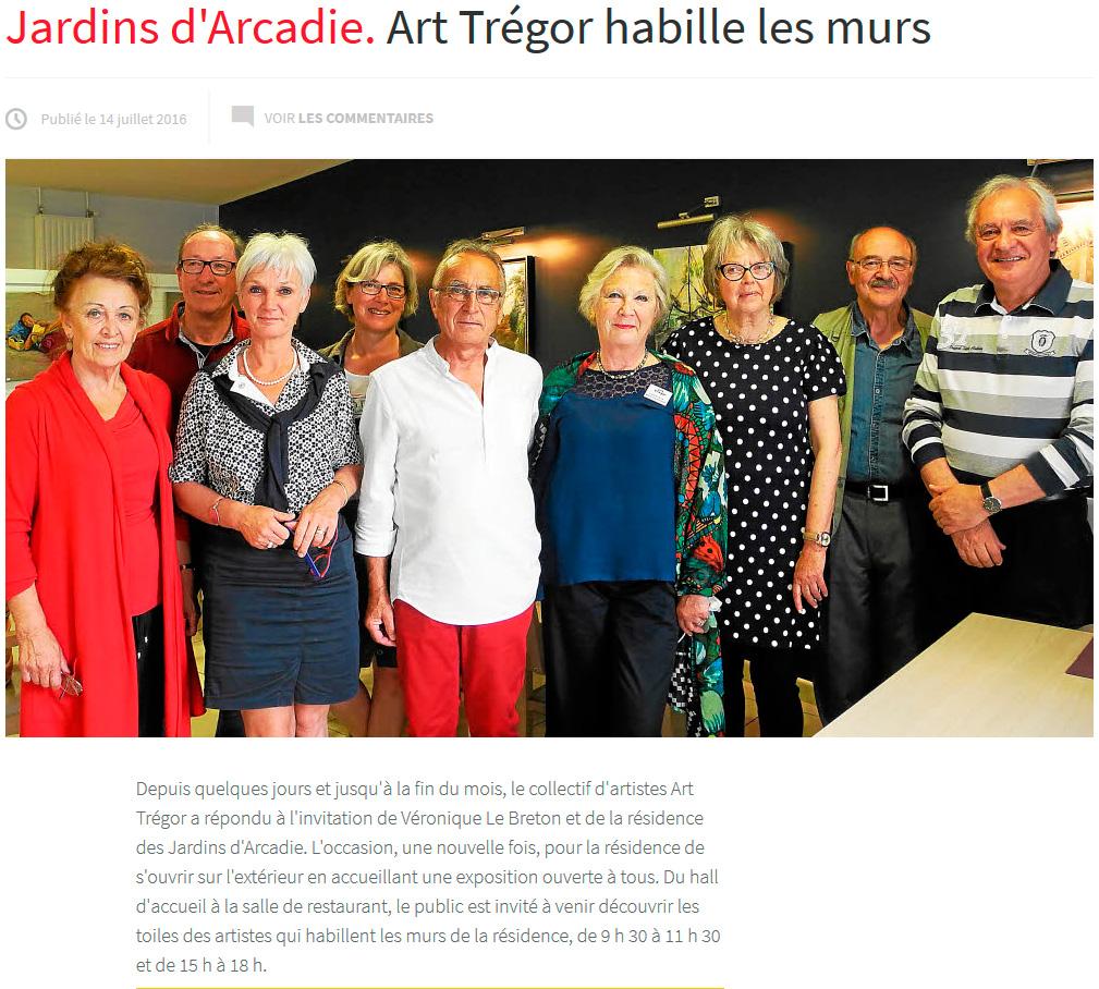 Exposition Jardin Arcadie Art Tregor 2016