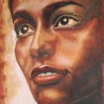 Portrait en sable de david cadran