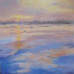 Coucher de soleil - huile - Patricia Sannier