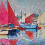 Les chants marins - huile sur toile - Jean-Marc Auzizeau