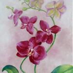 Orchidée - huile - Patricia Sannier