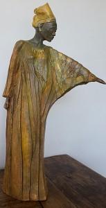 Africaine - Sculpture - Anne-Yvonne DAVID