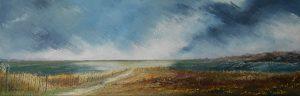 La dune - Huile sur toile - 20x60 cm