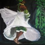"""Vert """"Anska"""" - Huile sur toile - Remy-Letaconnoux"""