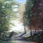 L'allée des Saints - Huile sur toile - 50x70cm