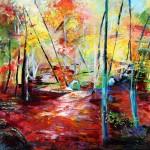 Sous-bois - Acrylique - Art Trégor
