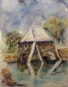Moulin à mer - Aquarelle - Art Trégor - Christine Cavan