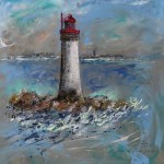 Phare du Grand Jardin - Christine Cavan - Acrylique - Art Trégor