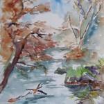 Léguer à l'automne - Aquarelle - Art Trégor