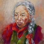 Femme tibétaine - Pastel - art trégor
