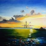 Phare de l'Île Vierge - Pastel sec art trégor