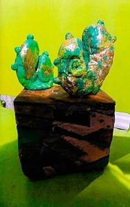 Cactus en papier mâché - Art Trégor