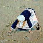 Dessin sur le sable - Acrylique - Marie-José Le Gall - Art Trégor