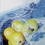 Boules jaunes - Aquarelle - Art Trégor 2017