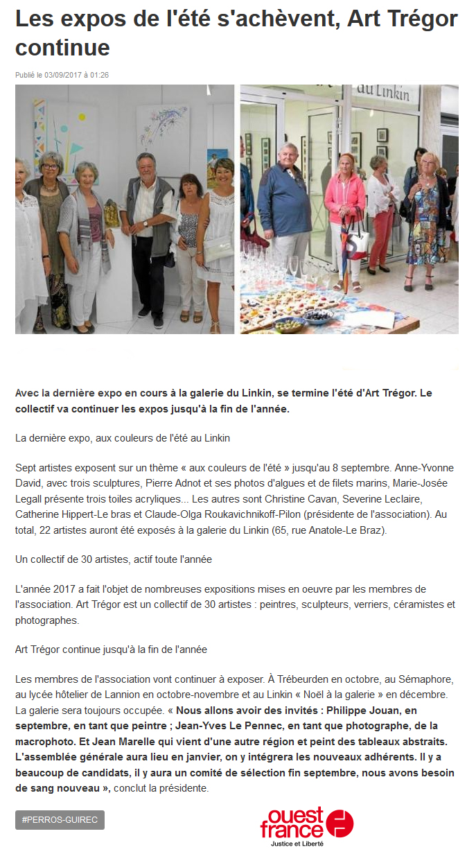 Expositions-Art-Tregor-ouest-france-2017