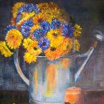 Bouquet d'immortel - Acrylique sur toile