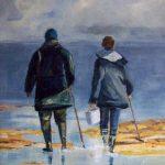 Les pêcheurs à pied - Acrylique sur toile