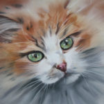Les yeux revolvers - pastel - Art Trégor