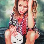 Le tombé du masque - Pastel sec - Sabrina Blanleuil