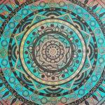 Mandala 5 Acrylique, Posca et Peinture 3d - Sabrina Blanleuil