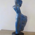Eole - Sculpture en terre cuite