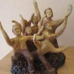 Fan Zone - Sculpture en terre cuite