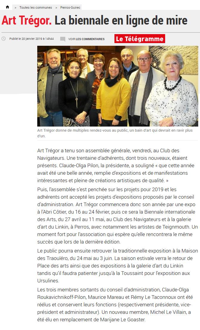 Art Trégor Presse 2019