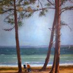 Les pins des landes - Acrylique sur toile