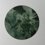 A table les petits : gravure manière noire cuve de 13cm de diamètre env