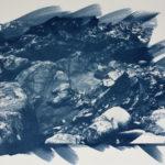 Blue rocks - Tirage cyanotype sur papier aquarelle - 24x32 cm - Jean-François Frelin