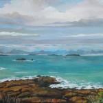 Vue des 7 Iles- Maurice Marreau - Gouache