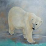 Ours blanc - huile - Patricia Sannier