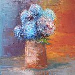 Hortensia - huile sur toile - 16x24cm