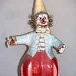 Clown ceramiques-raku-Manick Lassalle
