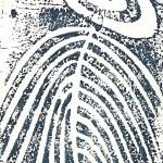 Gravure monoype gouache - Catherine Le Bras