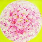 Hortensia - Acrylique sur toile - catherine Le Bras