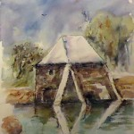 Moulin à mer - Aquarelle - Art Trégor - Christine Cavan