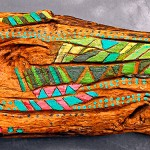 bois sculpté peint Australie - Art Trégor