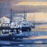 Port de commerce Rouen - Acrylique sur toile