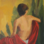 Nu féminin de dos - Huile sur toile